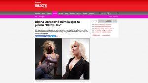 """Biljana Obradović snimila spot za pesmu """"Otrov i lek"""""""